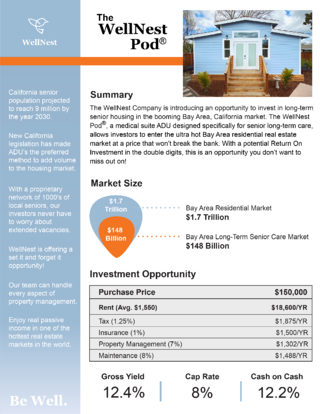 WellNest Real Estate 1 Pager